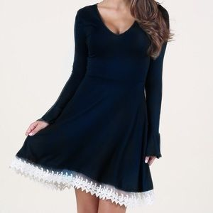 ALTAR'D STATE Magically Made Navy Lace Dress Large
